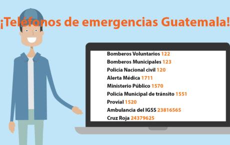 Teléfonos de emergencias Guatemala