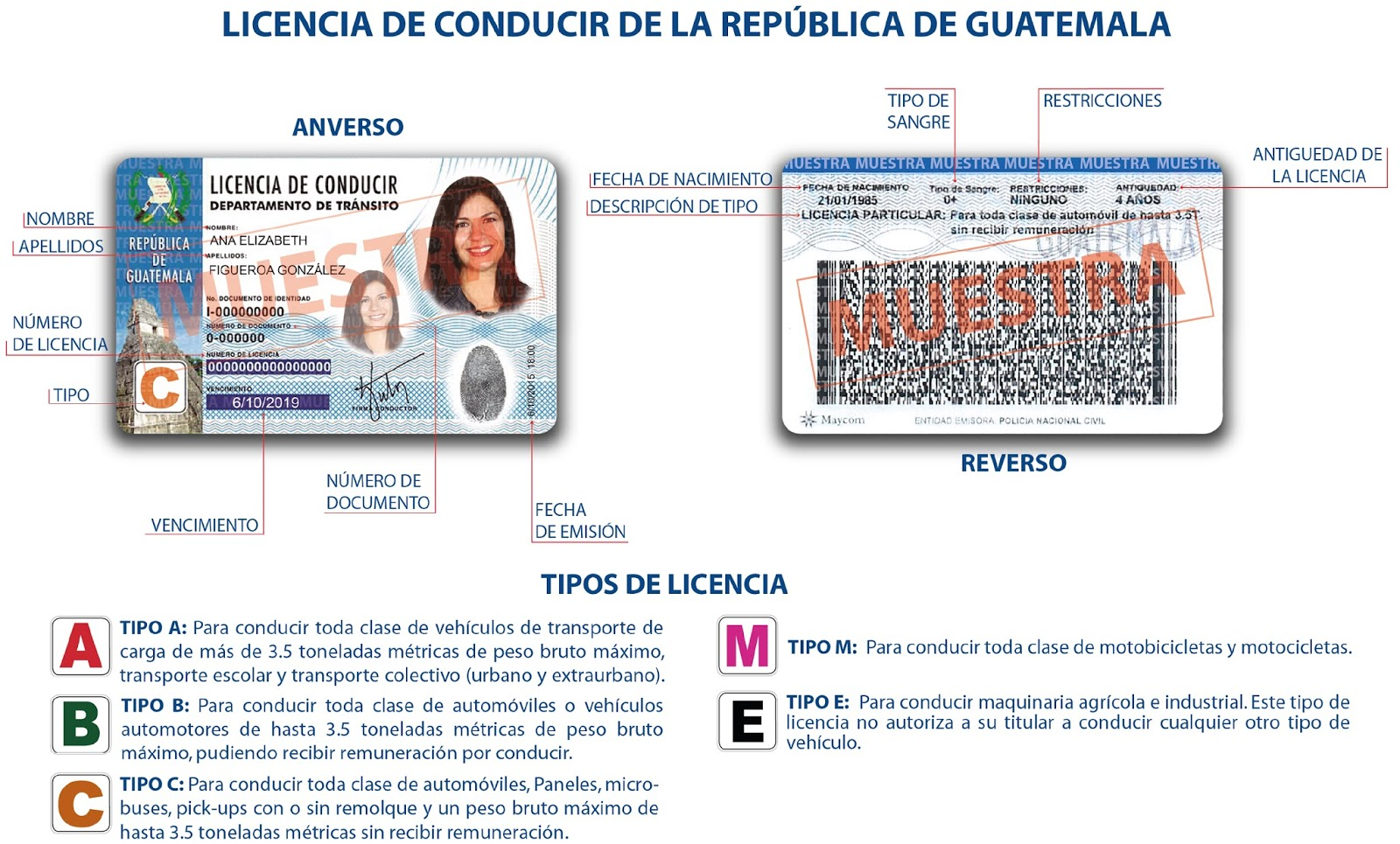 MiAuto » Licencia De Conducir En Guatemala
