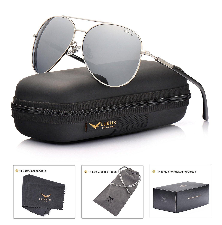 1e37e87caf5 MiAuto » Gafas de sol estilo aviador polarizadas con estuche para ...